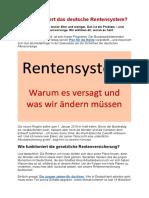Wie Funktioniert Das Deutsche Rentensystem?