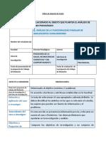 Perfil para analisis de casos