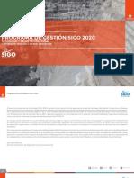 PROGRAMA DE GESTIÓN SIGO 2020