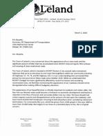 Letter to NCDOT From Leland Regarding Litter 2020 03 04 (1)