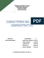 TEMA 9- CARACTERES DEL ACTO ADMINISTRATIVO