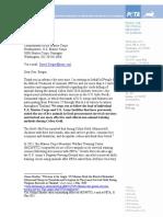 Letter to Gen. David Berger Re Cobra Gold 2020