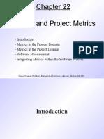 Pressman Ch 22 Process and Project Metrics