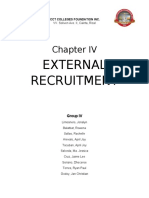 Summary Chapter IV Human Resource Management Recruitment and Selection