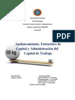 Apalancamiento, Estructura de Capital y Administración del Capital de Trabajo