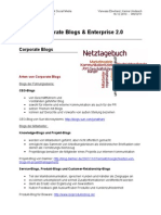 Corporate Blogs & Enterprise 2.0 - Handout