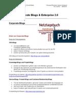 Corporate Blogs & Enterprise 2.0 - Handout