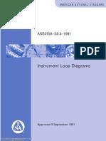 ANSI-ISA S5.4 (1991) Instrument loop diagrams