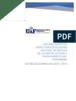 Informe ejecutivo Evaluacin Nacional de Riesgos LA-FT RD