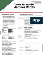 CV Fernanda Marquez Ingles Febrero 2020