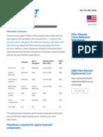Filter Media Comparison