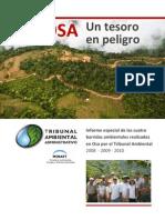 Informe Especial de OSA(Un Tesoro en Peligro)