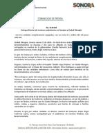 23-01-20 Entrega Director de Isssteson ambulancias en Navojoa y Ciudad Obregón