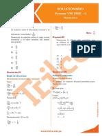 SOLUCIONARIO MATEMATICA EXAMEN ADMISION UNI 2010-1