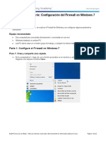 Practica de laboratorio 85 - Configuración del Firewall en Windows 7 y Vista