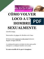CÓMO VOLVER LOCO A UN HOMBRE SEXUALMENTE