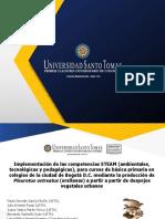 Implementación de las competencias STEAM (ambientales, tecnológicas y pedagógicas), para cursos de básica primaria en colegios de la ciudad de Bogotá D.C. mediante la producción de Pleurotus ostreatus (orellanas) a partir a partir de despojos vegetales urbanos