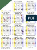 calendário2020