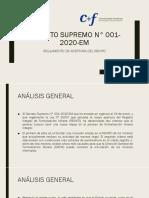 DECRETO SUPREMO N° 001-2020-EM