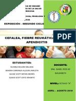 CEFALEA, REUMATICA, ACNE, APENDICITIS