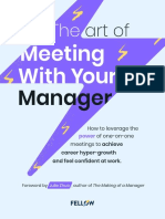 The Art Of Meeting With Your Manager