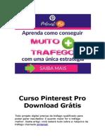 Curso Pinterest Grátis! Mini Curso Gratuito