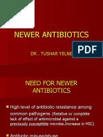 Newer Antibiotics 7-2-2010