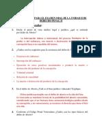 aaa CUESTIONARIO EXAMEN ORAL (UNIDAD II DERECHO PENAL II)