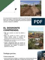 DESMONTE DISEÑO Y CONSTRUUCION DE PAVIMENTOS