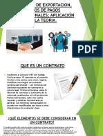 CONTRATO DE EXPORTACION, MEDIOS DE PAGOS INTERNACIONALES