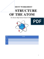 kunci struktur atom perkembangan model STUDENT WORKSHEET-1
