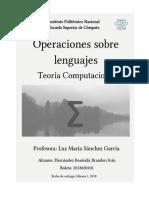 Operaciones sobre lenguajes y sus propiedades