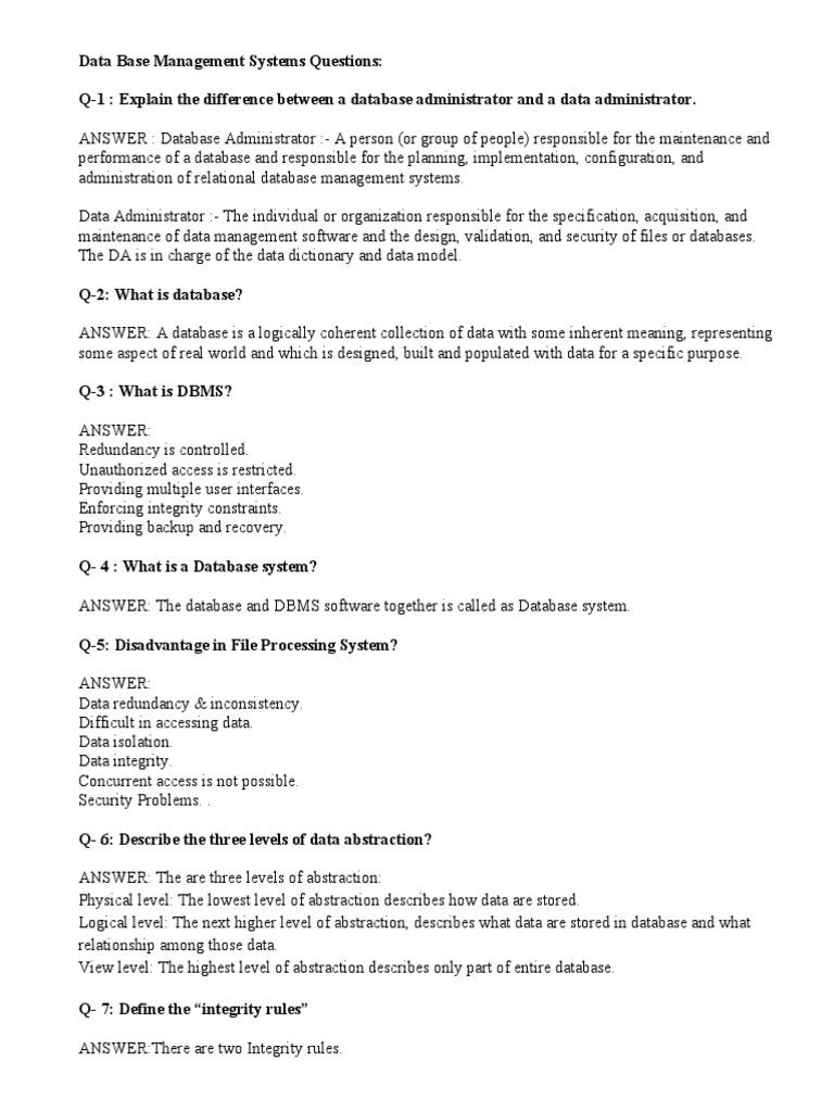 Dbms3 Doc Relational Database Databases