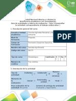 Guía de actividades y rúbrica de evaluación - Fase 2 -  Conceptualización