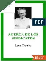 Acerca de los sindicatos - Leon Trotsky