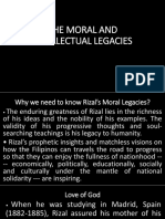 THE MORAL AND INTELLECTUAL LEGACIES