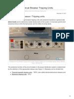 The Basics Of Circuit Breaker Tripping Units.pdf