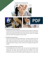 DAMPAK POSITIF dan negatif BERMAIN HP