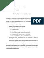 Orientações para execução do projeto