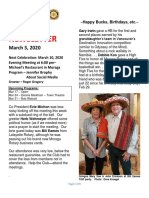 Moraga Rotary Newsletter March 3 2020