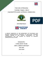 Internship Report final (Amna Farooqui) - Copy