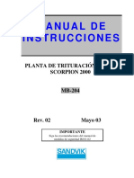 Manual de instrucciones planta movil scorpion 2000