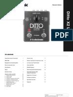 Manuale Italiano. Ditto X2 Looper
