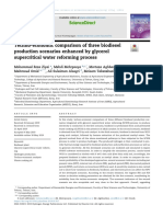 Techno-economic comparison of three biodiesel production scenarios enhanced by glycerol supercritical water reforming process