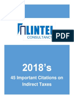 2018 - Important Citation on Indirect Taxes
