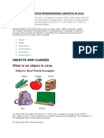 OBJECT ORIENTED CONCEPTS AND EXAMPLES