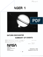 Saturn Encounter Summary of Events