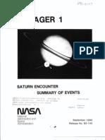 Saturn Encounter Summary of Events