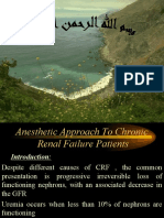 Anesthetic Approach to Chronic Renal Failure Patients