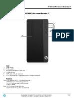 hp 280g3 datasheet